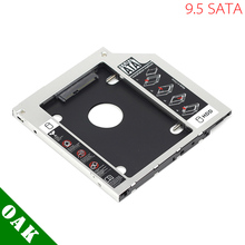 [Free Shipping] 9.5mm Aluminum SATA to SATA Second HDD Caddy Enclosure Case for Laptop High Quality