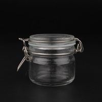 new 1 piece 200g large capacity glass facial mask jars 200ml clear bath salt storage containers - Large Glass Jars