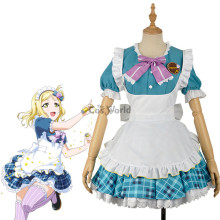 LoveLive!Sunshine!! Ohara Mari Valentine's day Maid Apron Dress Uniform Outfit Anime Cosplay Costumes