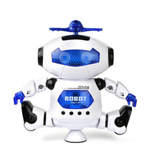 Cute Mini Electric Dancing With Light Music Musical Robot Action Figure Toy Model For Children Kids(China)