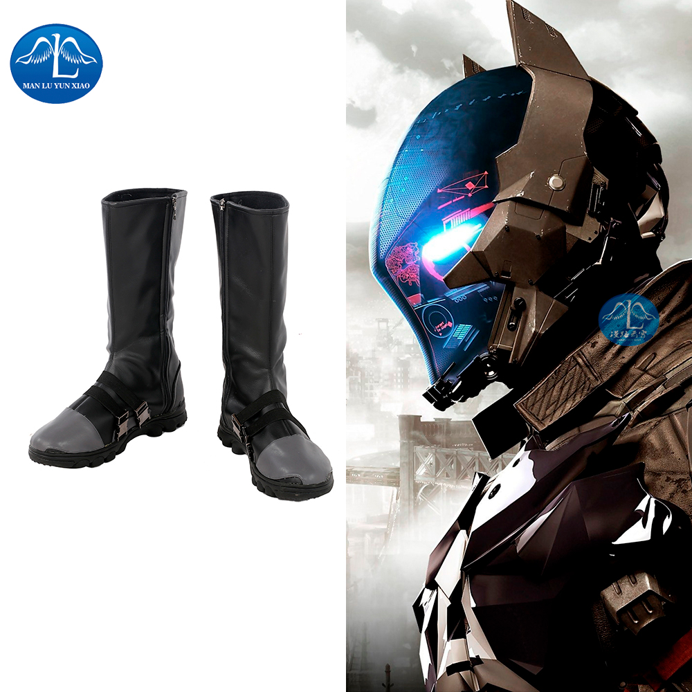 MANLUYUNXIAO New Arrival Men's Boots Batman: Arkham Knight Boots Halloween Carnival Cosplay Boots For Men