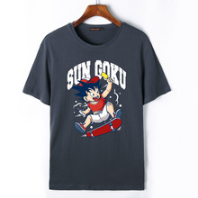 Flevans Dragon Ball Z T-shirt Men Harajuku Hip Hop Brand T-shirt Child Son Goku Print Summer Tops Tees T Shirt(China)