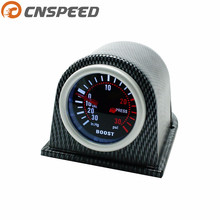 Free shipping CNSPEED 2'' 52mm Universal Turbo Boost Gauge PSI Smoke Face With Carbon Fiber Pod Car Meter Auto gauge YC100966(China)