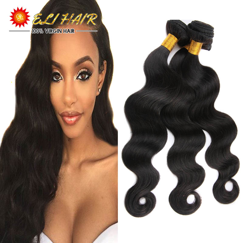 Natural Color Brazilian Hair Bundles With Closure And Bangs 8A Grade Virgin Brazilian Body Wave 3 Bundles With Closure Deals<br><br>Aliexpress