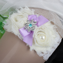 Ivory Lace Bridal Garter Chic Flowers Garter Belt Plus Size Wedding Accessories Wedding Garters Couture Pearl and Crystal  Toss