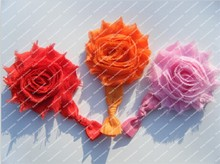 Shabby Flower Elastic Hair Tie - The Perfect Pony Tail Holder 500pcs