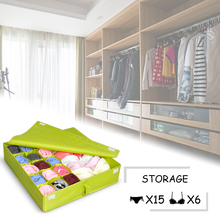 Waterproof Oxford Fabric Foldable Bra Underwear Storage Box Case Socks Ties Closet Drawer Organizer Container Divider with Cover(China)