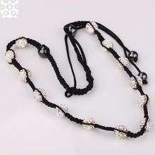 N004 Attractive Handmade AB clay shamballa necklace for women
