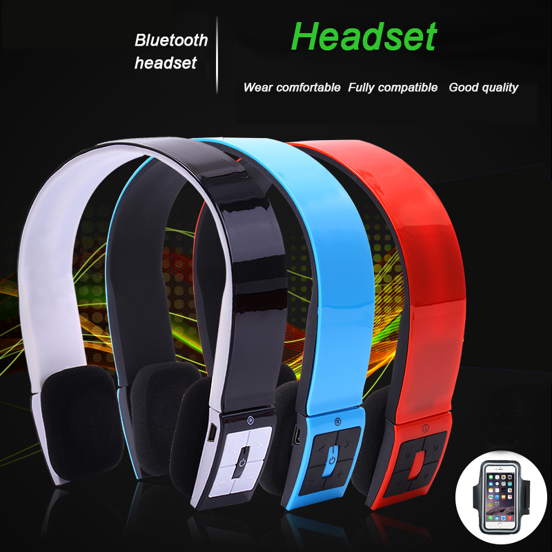 Auricularess Wireless Bluetooth Headset Handband Stereo Sports Earphone Support for Mobile Phone<br><br>Aliexpress
