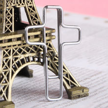 10 Pcs/Lot Christian Cross Metal Paper Clips ParaP apel Creative Memo Bookmark for Message Storage Office Supplies Accessories