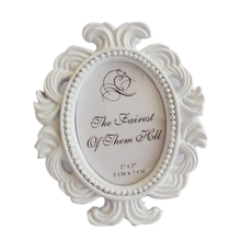 2017 Hot Sale Floral Photo Frame Round Frame Picture Frame Holder Wedding Home Decor(China)