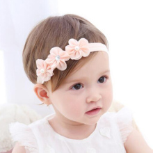 1 PC Mini 3 Flowers Baby Headband Chic Flower Pearl Rhinestone Head Bands Girls Headwear Newborn Children Kids Hair Accessories