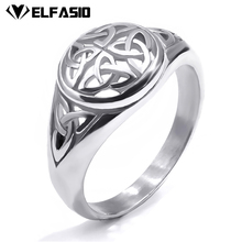 Women's Girl's Stainless Steel Ring Silver Gold Celtic Knot New Fashion Jewelry(China)