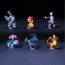 Classic Figurine 7 cm 6pcs/set Pikachu PVC Action Figure Toys Full Set Model Collection Cartoon Fans Gift Car Decorated Dolls