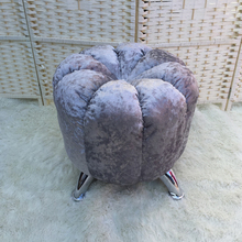 High quality modern fashion shoes stool chair sofa outdoor home upholstered stool ottoman comfortable round pouffe footstool(China)
