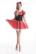 Minnie Mouse vestido de adultos disfraces de Halloween para para s,ml xl, 2XL en stock
