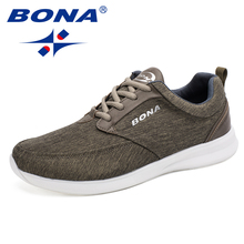 BONA New Popular Classics Style Men Walking Shoes Lace Up Men Shoes Outdoor Jogging Shoes Comfortable Sneakers Free Shipping