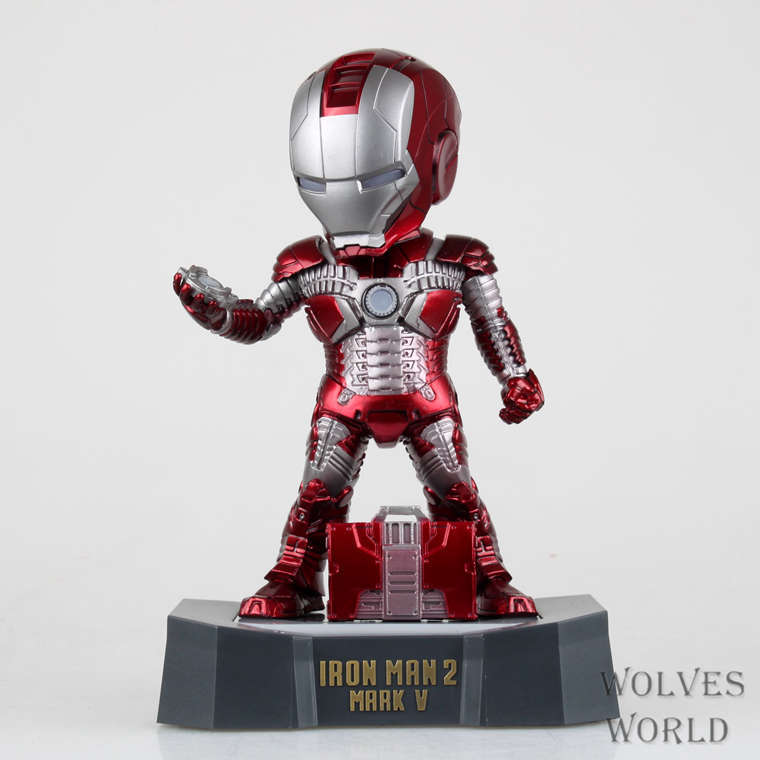 20cm Egg Attack IronMan Light Up Action Figure Iron Man Model Toy<br>