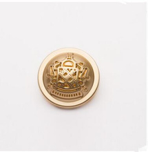 5PCS Clothing accessories 18-25mm  fashion Crown British style metal button coat  matte gold buttons