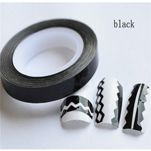 Nail Accessories Sticker Nail Art wave Gold and silver line Widen Nail diy gold and silver nail stickers with adhesive
