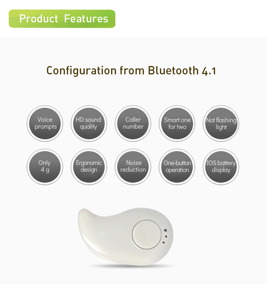 Wireless Earphones Bluetooth Noise Cancelling Bluetooth Earphone Sport Wireless Headset Mini Earphones For Samsung Galaxy (5)