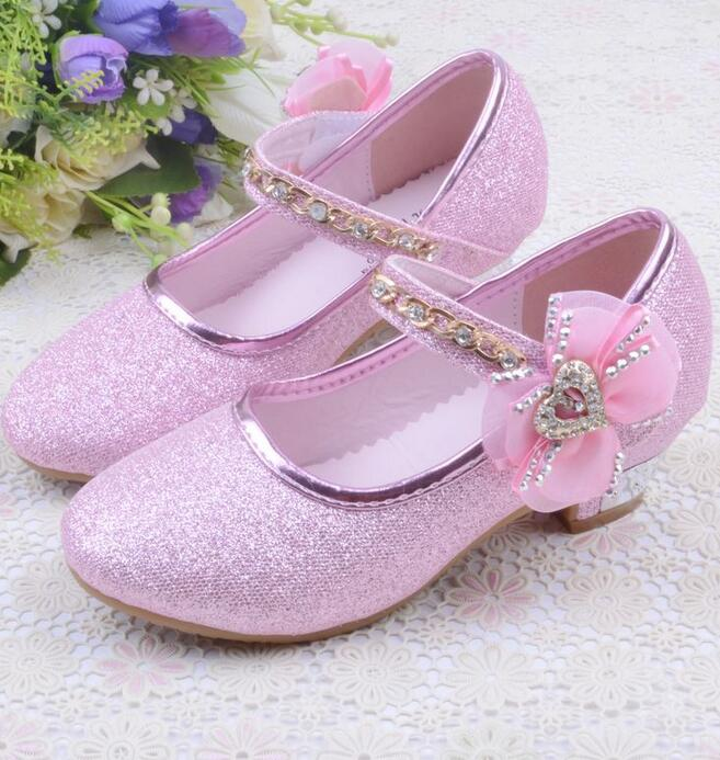 Kids Children Girls Lace Flower Princess Shoes Shiny Wedding Party Dance Shoes Girls Leather Shoes In With Girls Sandals<br><br>Aliexpress