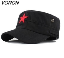 VORON 2017 New Vintage Unisex Women Men casquette baseball cap Fabric Adjustable Red Star Outdoor Sun Casual Army Hat(China)
