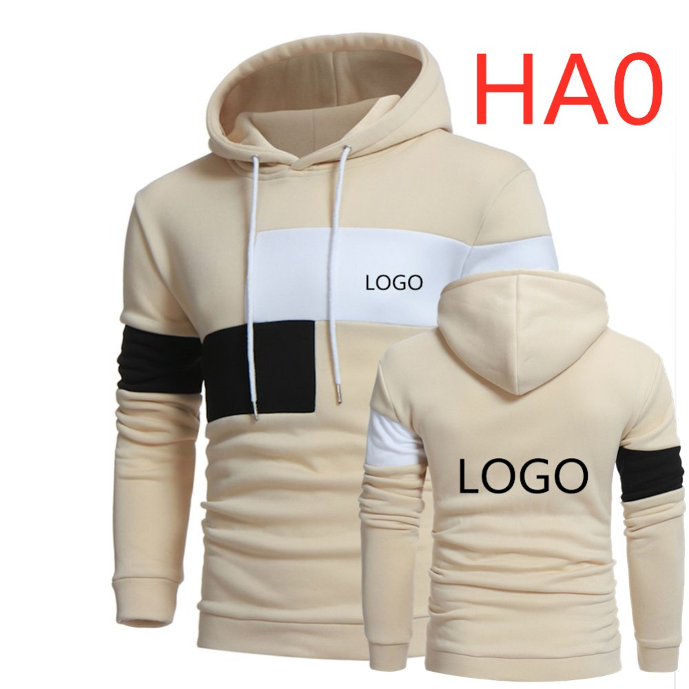HA0 New Large Size Custom Hoodies For Men's DIY Pattern Design Hoodie Man Pullover Hooded Thin Jacket Punk Style Patchwork Hoody
