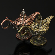 Style Fairy Tale Aladdin Magic Lamps Tea Pot Genie Lamp Vintage Retro Toys For Children Home Decoration Gifts(China)