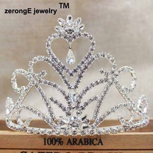 3.8inch pageant Wedding Bridal Tiara Crowns Queen eart Tiara crown Headband for party /masquerady event/carnival