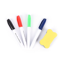 5Pcs/Set White Board Make Pen With Whiteboard Eraser Whiteboard Marker Liquid Chalk Erasable Pen Office Material School Supplies(China)