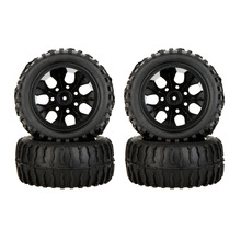 4Pcs High Performance 1/10 Off-Road Car Wheel Rim and Tire 8020 for Traxxas Tamiya HPI Kyosho RC Car(China)
