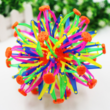 Baby Kids Toys Fun Retractable Changeable Magic Ball Hand Catch Training Ball Colorful Flower Ball Creative Gifts Fall Resistant