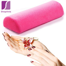 Hot Sale 1 PC Salon Hand Pillow Soft Hand Cushion Rest Pillow Manicure Care Nail Art Tools Design Column Semicircular Nail(China)