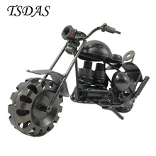2017 New Arrival Retro Metal Motorcycle Model 18CM Diecast Car Model Metal Handicrafts Model Free Shipping(China)