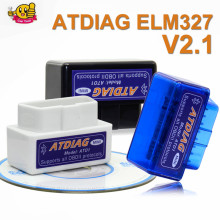 ELM327 Mini ELM 327 V2.1 OBD2 Bluetooth ATDIAG Interface Auto Scanner obd ii Diagnostic Tool works on Android Windows Symbian