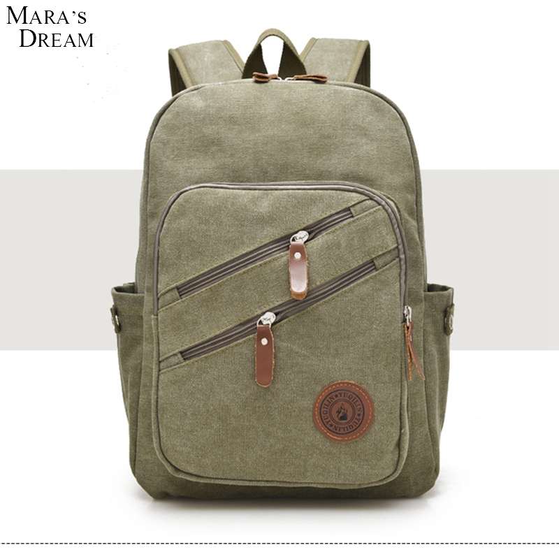 Maras Dream 2017 Autumn And Winter Korean Version The Trend Of Mens Canvas Backpack Lnstitute Leisure Travel Bag Big Backpack<br><br>Aliexpress
