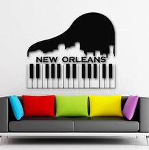 Wall Stickers Vinyl Decal New Orleans City USA Keys Piano Music
