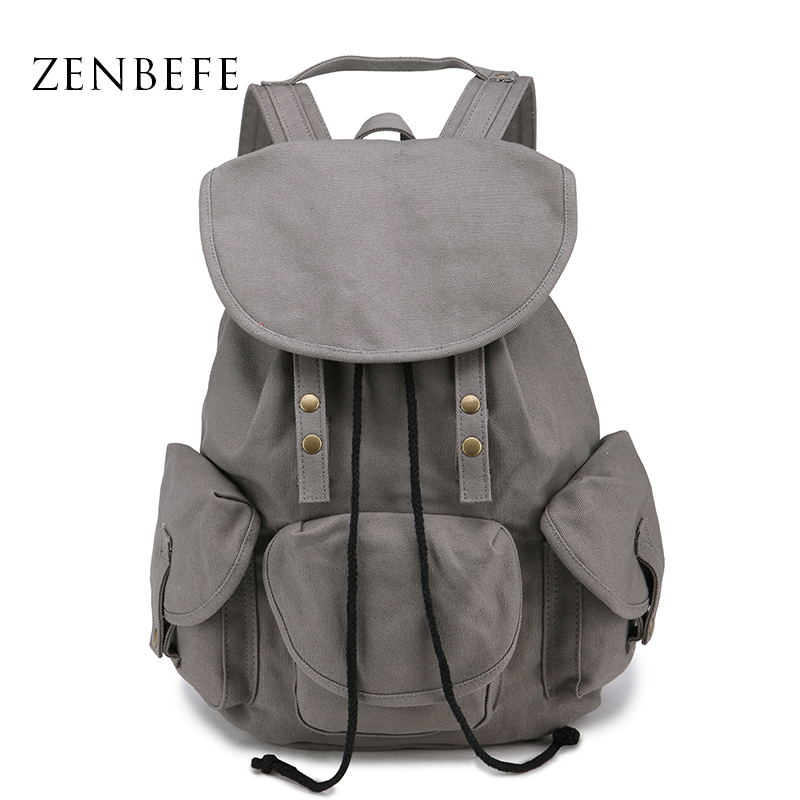 ZENBEFE High Quality WomenS Backpacks Canvas Bag Daily Backpack Student School Bag Vintage Bag Travel Backpack Rucksack<br><br>Aliexpress