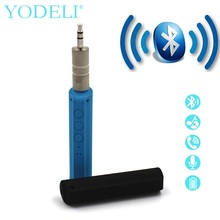 YODELI Car Portable mini Bluetooth Wireless Receiver 3.5 mm Jack Cassette Adapter bluetooth audio adapter with Mic for LG Phone(China)