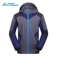 autumn winter soft shell men jacket Outdoor jaqueta Camping sports coat fishing mountain jackets waterproof Windproof(China)
