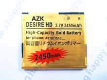 AZK New 1 pcs Gold Battery Batteries for HTC Desire HD G10 Inspire 4G Ace G10 A9191 Surround T8788 T9188 T9199 BD26100