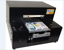 Cheap a4 size flatbed printer, logo printing machine and pvc card printing machine