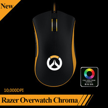 Original Razer Overwatch Deathadder Chroma Wired USB Gaming Mouse 10,000dpi Optical Sensor Right-Handed Without Retail Box