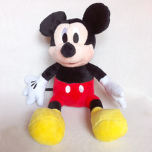 1pc 28cm Mickey Mouse And Red Rose Minnie Mouse Soft Stuffed Animals Dolls Plush Toys For Children's Gift