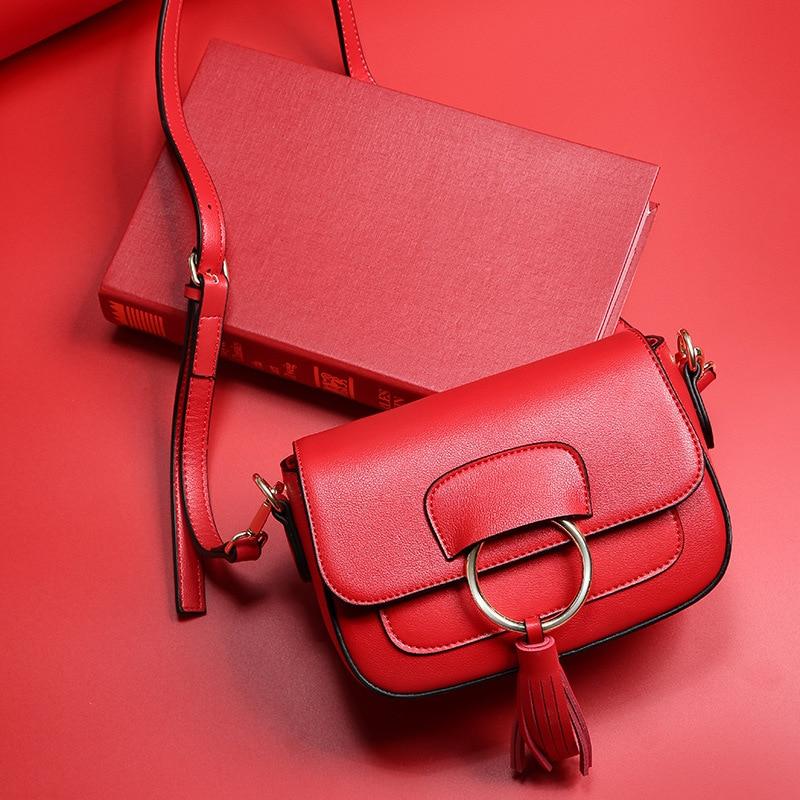 Fashion Womens Split Leather Messenger Bags Ladies Flap Leather Tassel Crossbody Bags Female Cowhide Small Shoulder Bag QZ4816<br><br>Aliexpress