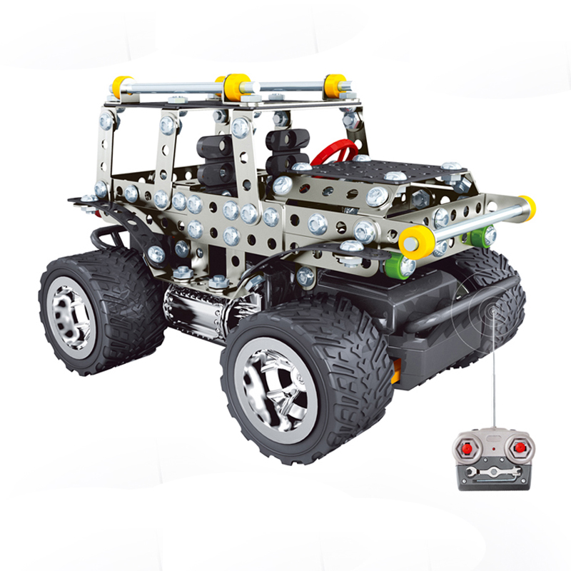 Metal alloy assembling off-road RC remote radio control cars model educational toys<br><br>Aliexpress