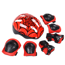 7Pcs/Lot Bicycle Helmet Children Roller Skating Skateboard Elbow Knee Pads Wrist Sport Protection Safety Guard Knee Pads