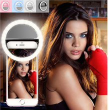 36 LED Rechargeable 3-Level Brightness Selfie Light Phone Ring Light LED Camera Flash Light for iPhone Smartphone Camera