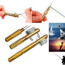 Fishing Hook Tyer Aluminum Knots Line Tying Fishhook Manual Tie Tool Accessory